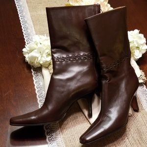 J. Crew Mid-calf Leather Boots, size 7